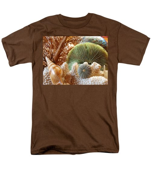 Men's T-Shirt  (Regular Fit) featuring the photograph Coral And Shells by Trena Mara