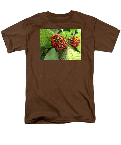 Men's T-Shirt  (Regular Fit) featuring the painting Costa Rican Berries by Angela Annas