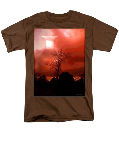 Men's T-Shirt  (Regular Fit) featuring the photograph Cottonwood Crimson Sunset by Joyce Dickens