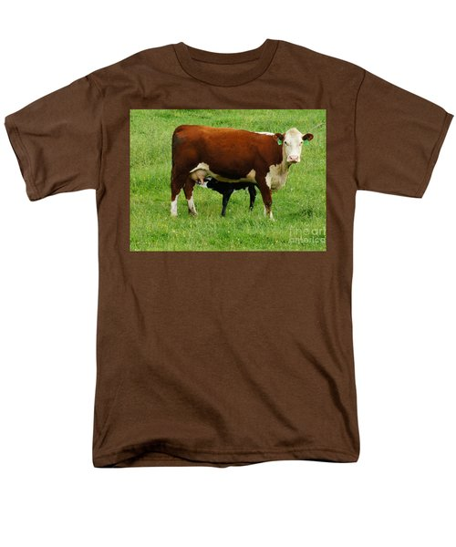 Cow With Calf Men's T-Shirt  (Regular Fit) by Debra Crank