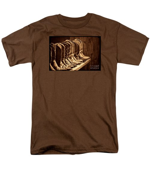 Cowgirl Boots Collection Men's T-Shirt  (Regular Fit) by American West Legend By Olivier Le Queinec