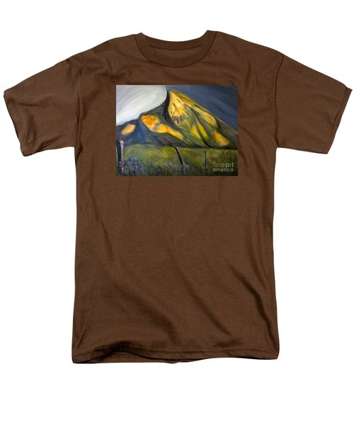 Crested Butte Mtn. Men's T-Shirt  (Regular Fit) by Kathryn Barry