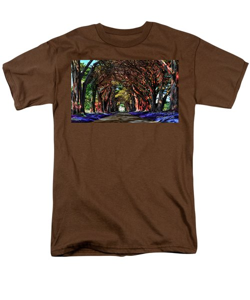 Men's T-Shirt  (Regular Fit) featuring the digital art Cypress Tree Tunnel by Jason Abando