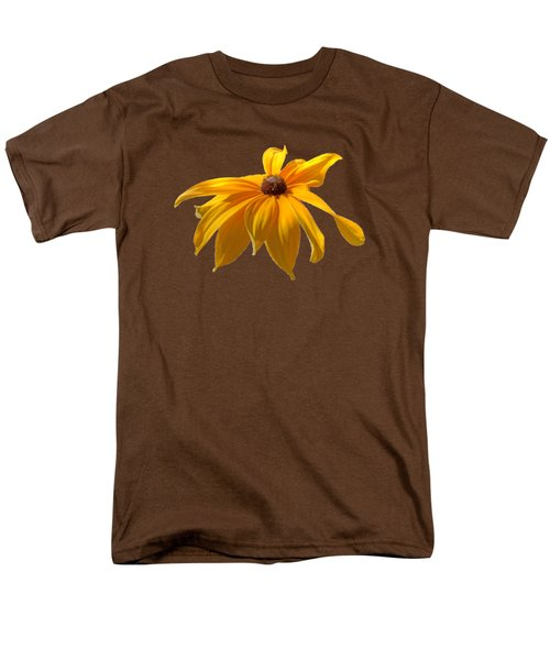 Men's T-Shirt  (Regular Fit) featuring the photograph Daisy - Flower - Transparent by Nikolyn McDonald