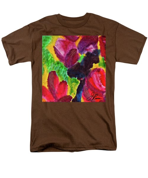 Men's T-Shirt  (Regular Fit) featuring the painting Dancing Flowers by Joan Reese
