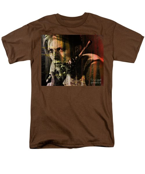 David Bowie / The Man Who Fell To Earth  Men's T-Shirt  (Regular Fit) by Elizabeth McTaggart