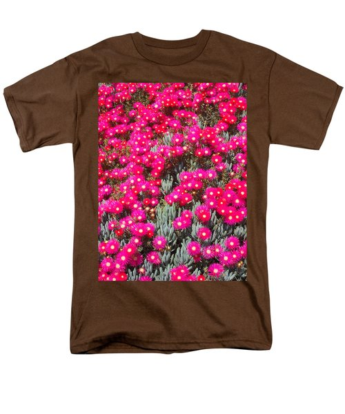 Dazzling Pink Flowers Men's T-Shirt  (Regular Fit) by Mark Barclay