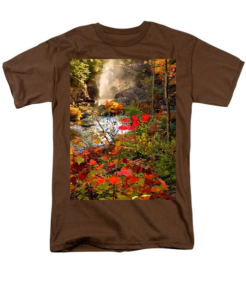 Dead River Falls Foreground Plus Mist 2509 Men's T-Shirt  (Regular Fit) by Michael Bessler