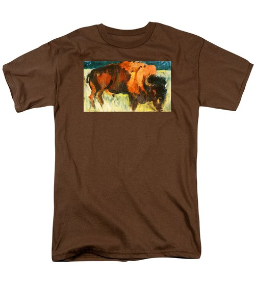Men's T-Shirt  (Regular Fit) featuring the painting Debbie's Postcard Buffalo by Les Leffingwell