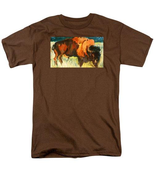 Debbie's Postcard Buffalo Men's T-Shirt  (Regular Fit) by Les Leffingwell