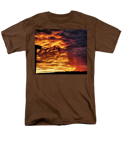 Men's T-Shirt  (Regular Fit) featuring the painting December Austin Sunset  by Layne William LoMaglio