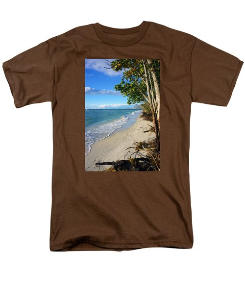 Delnor Wiggins Pass State Park Men's T-Shirt  (Regular Fit) by Robb Stan