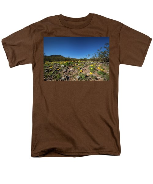 Desert Flowers In Spring Men's T-Shirt  (Regular Fit) by Ed Cilley