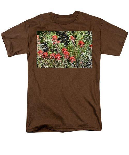 Desert Indian Paintbrush - Joshua Tree National Park Men's T-Shirt  (Regular Fit) by Glenn McCarthy Art and Photography