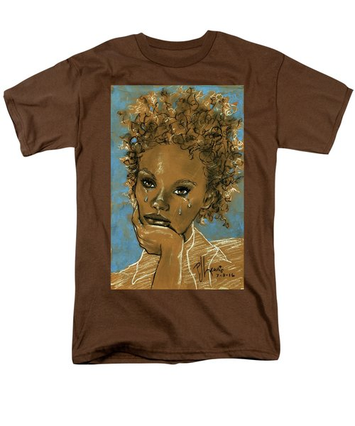 Men's T-Shirt  (Regular Fit) featuring the drawing Diamond's Daughter by P J Lewis