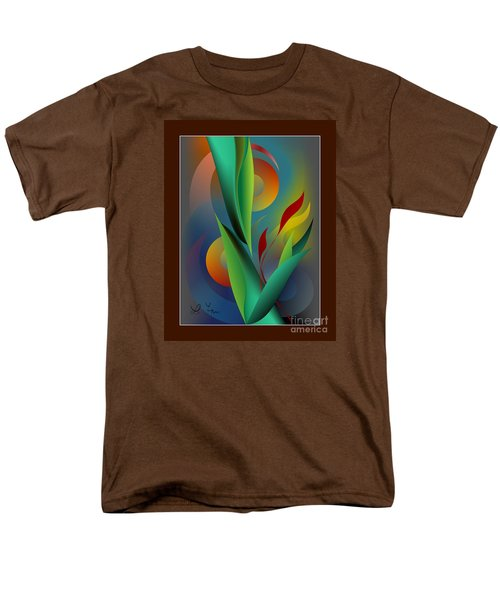 Digital Garden Dreaming Men's T-Shirt  (Regular Fit) by Leo Symon