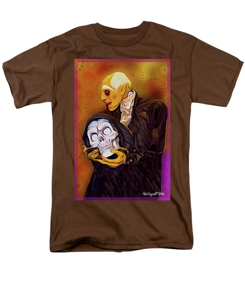 Men's T-Shirt  (Regular Fit) featuring the painting Dinner Is Served by Ted Azriel