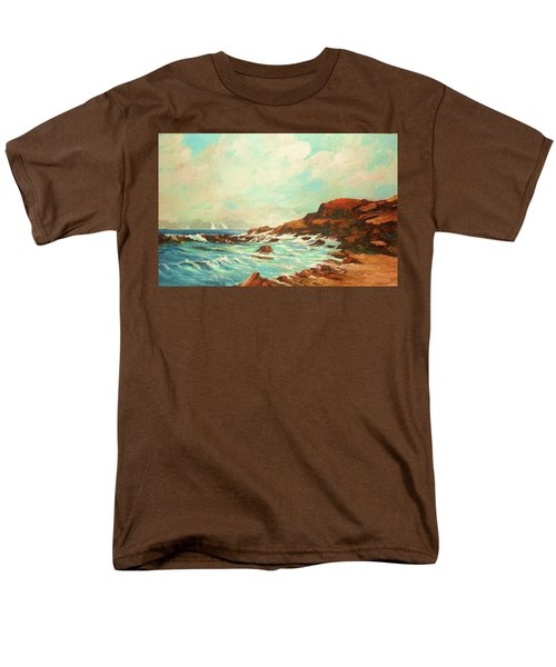 Distant Sails Of The Cove Men's T-Shirt  (Regular Fit) by Al Brown