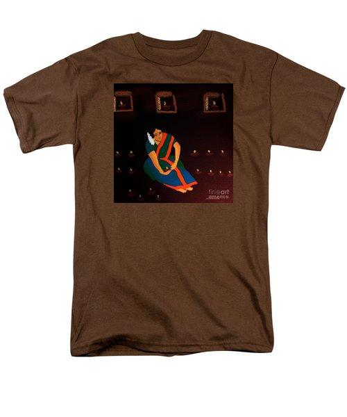 Men's T-Shirt  (Regular Fit) featuring the digital art Diwali-the Night Of Diyas by Latha Gokuldas Panicker