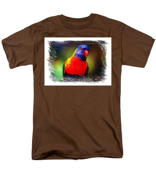 Do-00153 Colourful Lorikeet Men's T-Shirt  (Regular Fit) by Digital Oil