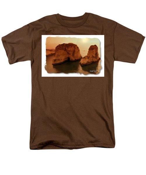 Do-00405 Raouche Sunset Beirut  Men's T-Shirt  (Regular Fit) by Digital Oil