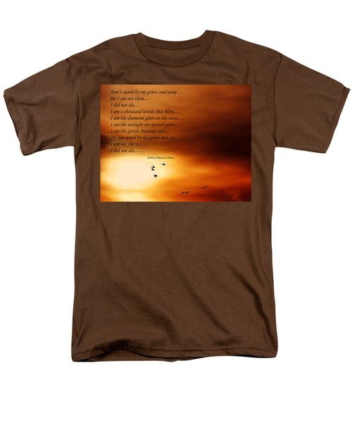 Do Not Weep Men's T-Shirt  (Regular Fit) by Denise Romano