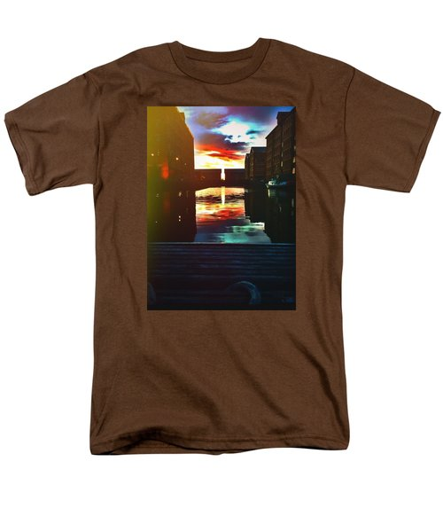 Dockland Sun Down Men's T-Shirt  (Regular Fit) by Trystan Oldfield
