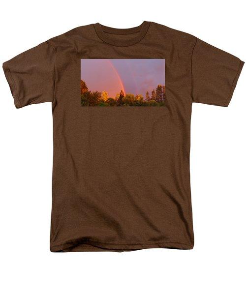 Double Rainbow Over Bow Men's T-Shirt  (Regular Fit) by Karen Molenaar Terrell