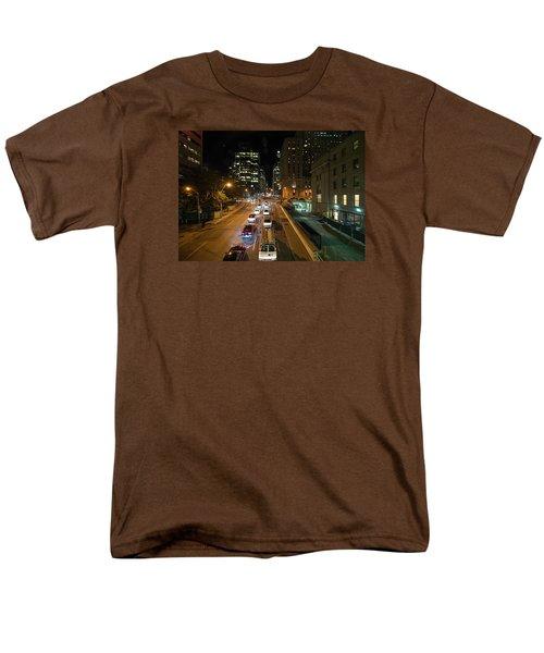 Down Town Toronto At Night Men's T-Shirt  (Regular Fit) by John Black