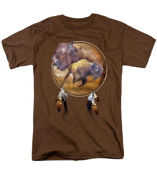 Dream Catcher - Spirit Of The Brown Buffalo Men's T-Shirt  (Regular Fit) by Carol Cavalaris