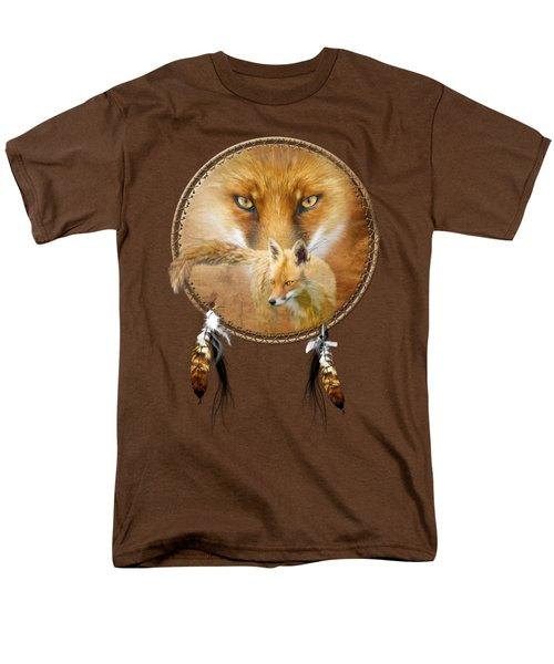 Dream Catcher- Spirit Of The Red Fox Men's T-Shirt  (Regular Fit) by Carol Cavalaris