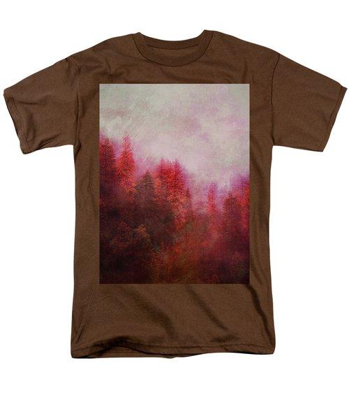 Men's T-Shirt  (Regular Fit) featuring the digital art Dreamy Autumn Forest by Klara Acel