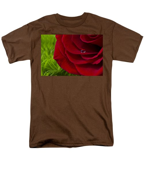 Drop On A Rose Men's T-Shirt  (Regular Fit) by Marlo Horne