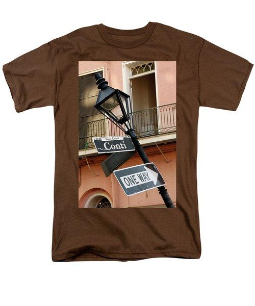 Drunk Street Sign French Quarter Men's T-Shirt  (Regular Fit) by KG Thienemann