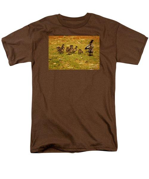 Duck Family I Men's T-Shirt  (Regular Fit) by Cassandra Buckley