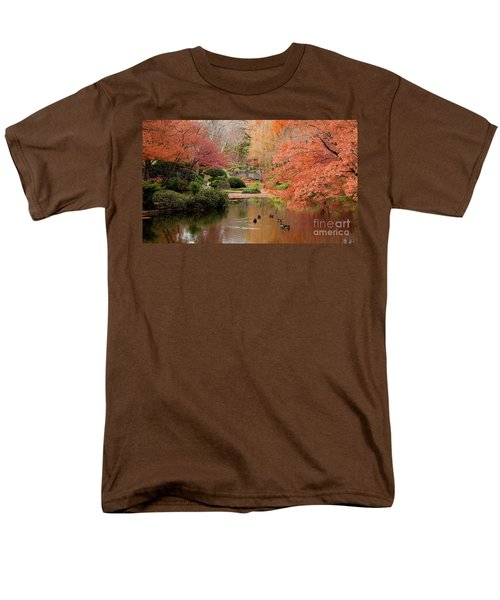 Ducks In The Pond Men's T-Shirt  (Regular Fit) by Iris Greenwell