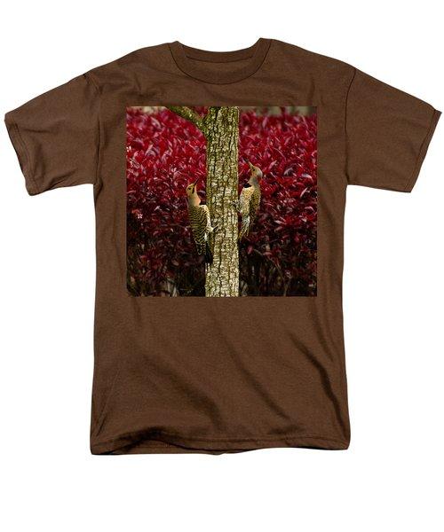 Dueling Woodpeckers Men's T-Shirt  (Regular Fit) by LeeAnn McLaneGoetz McLaneGoetzStudioLLCcom