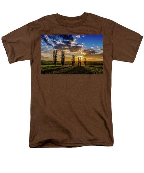 Dutch Moutains At Sunset Men's T-Shirt  (Regular Fit) by Rainer Kersten