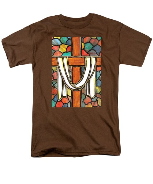 Men's T-Shirt  (Regular Fit) featuring the painting Easter Cross 6 by Jim Harris