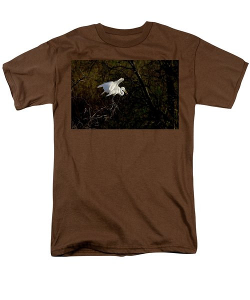 Men's T-Shirt  (Regular Fit) featuring the photograph Egret by Kelly Marquardt