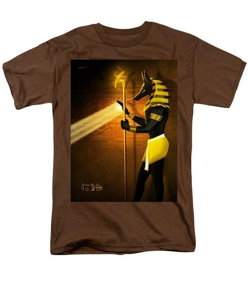 Egyptian God Anubis Men's T-Shirt  (Regular Fit) by John Wills