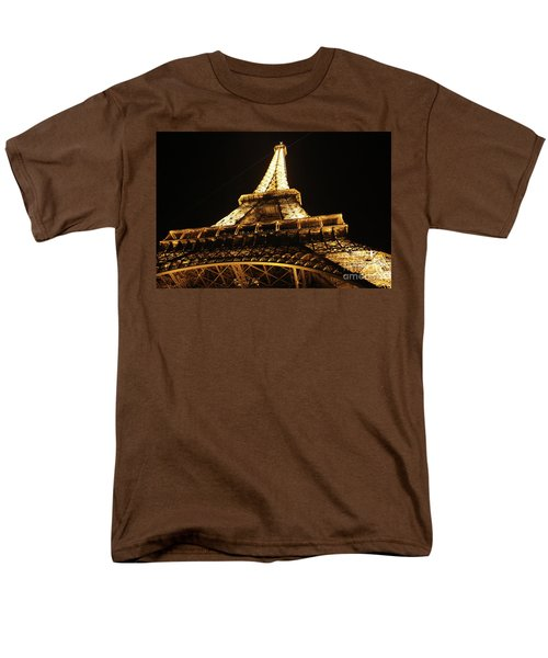Men's T-Shirt  (Regular Fit) featuring the photograph Eiffel Tower At Night by MGL Meiklejohn Graphics Licensing