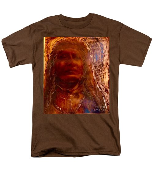 Men's T-Shirt  (Regular Fit) featuring the painting Wisdomkeepers by FeatherStone Studio Julie A Miller