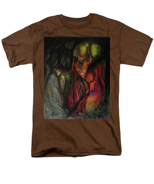 Men's T-Shirt  (Regular Fit) featuring the painting Elder Keepers by Christophe Ennis