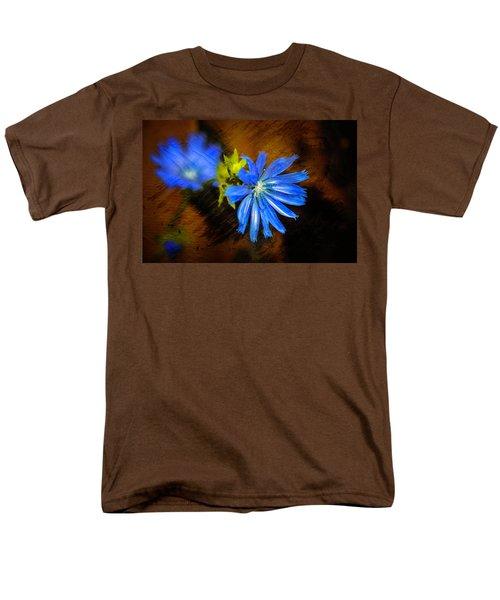 Electric Blue Men's T-Shirt  (Regular Fit)