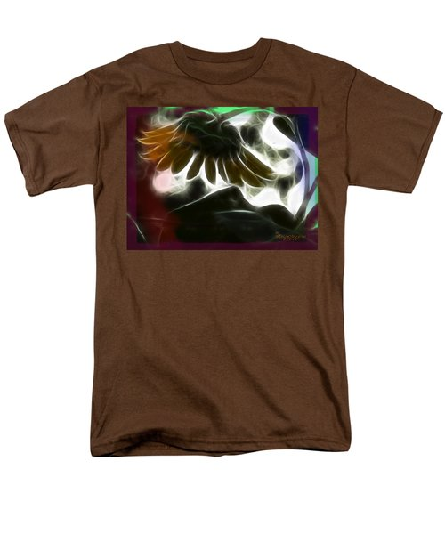 Men's T-Shirt  (Regular Fit) featuring the photograph Electric Sunflower by EricaMaxine  Price