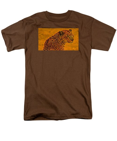 Essence Of Leopard Men's T-Shirt  (Regular Fit) by Stephanie Grant
