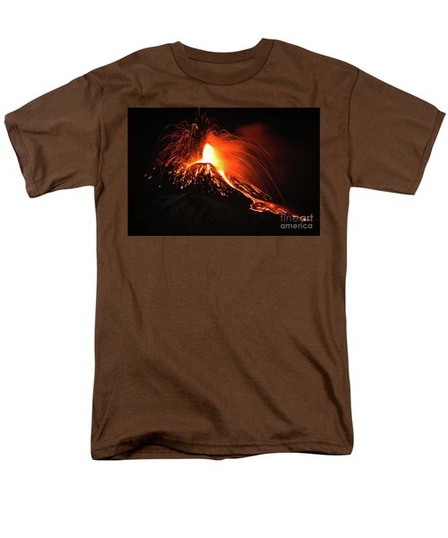 Men's T-Shirt  (Regular Fit) featuring the pyrography Etna by Bruno Spagnolo