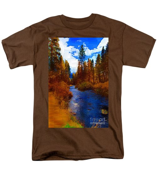 Evening Hatch On The Metolius Painting Men's T-Shirt  (Regular Fit) by Diane E Berry