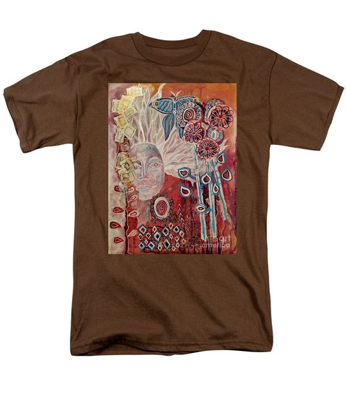 Men's T-Shirt  (Regular Fit) featuring the mixed media Evening by Mimulux patricia no No